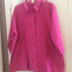 Ladies pintucked blouse xx